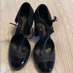 Chanel black Mary Jane heela